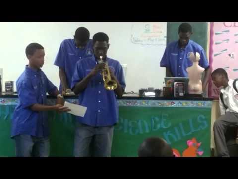 Students exhibiting  culture Performing and Culinary arts    Bahamas