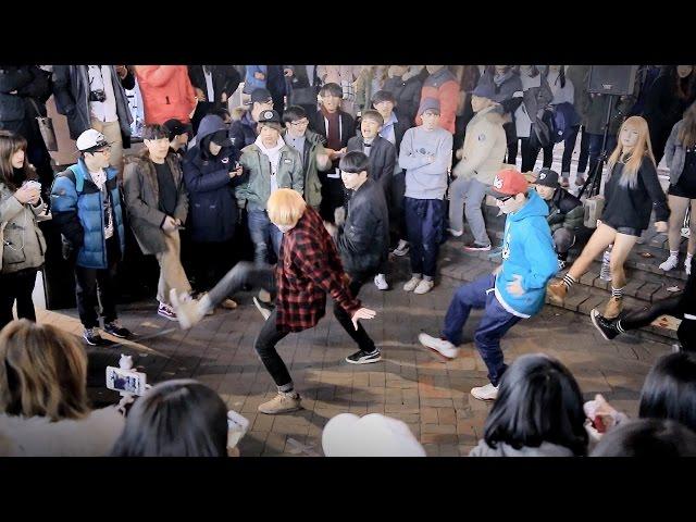 """춤추는곰돌 / 동방신기(TVXQ) """"주문(Mirotic)"""" 댄스안무 커버 / 홍대 버스킹"""