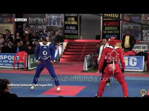 Mizoram Taekwondo Fight League - Round 3