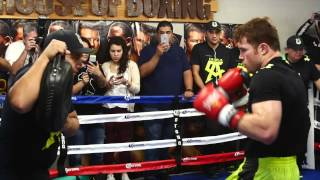 RingTV Reports: Canelo Alvarez media workout