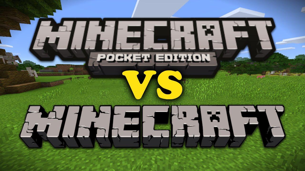Minecraft Pe Vs Minecraft Pc Youtube