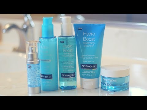 Testing Out New SkinCare Line | Neutrogena Hydro Boost #skincarestatus