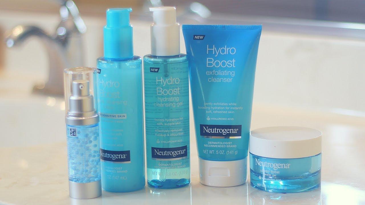 Testing Out New SkinCare Line | Neutrogena Hydro Boost #skincarestatus