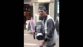 Essen Ghettoblaster Mann