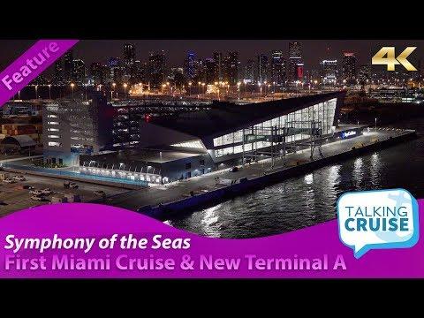 Symphony of the Seas – Tour of Terminal A (Crown of Miami) & First Miami Sailaway