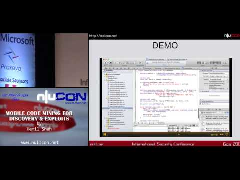 nullcon Goa 2013 - Mobile Code mining for discovery & exploits - By Hemil Shah