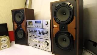 Vintage Kef speakers Carina ii sp3017 3 way loudspeaker system 1983 FWO 80 watts