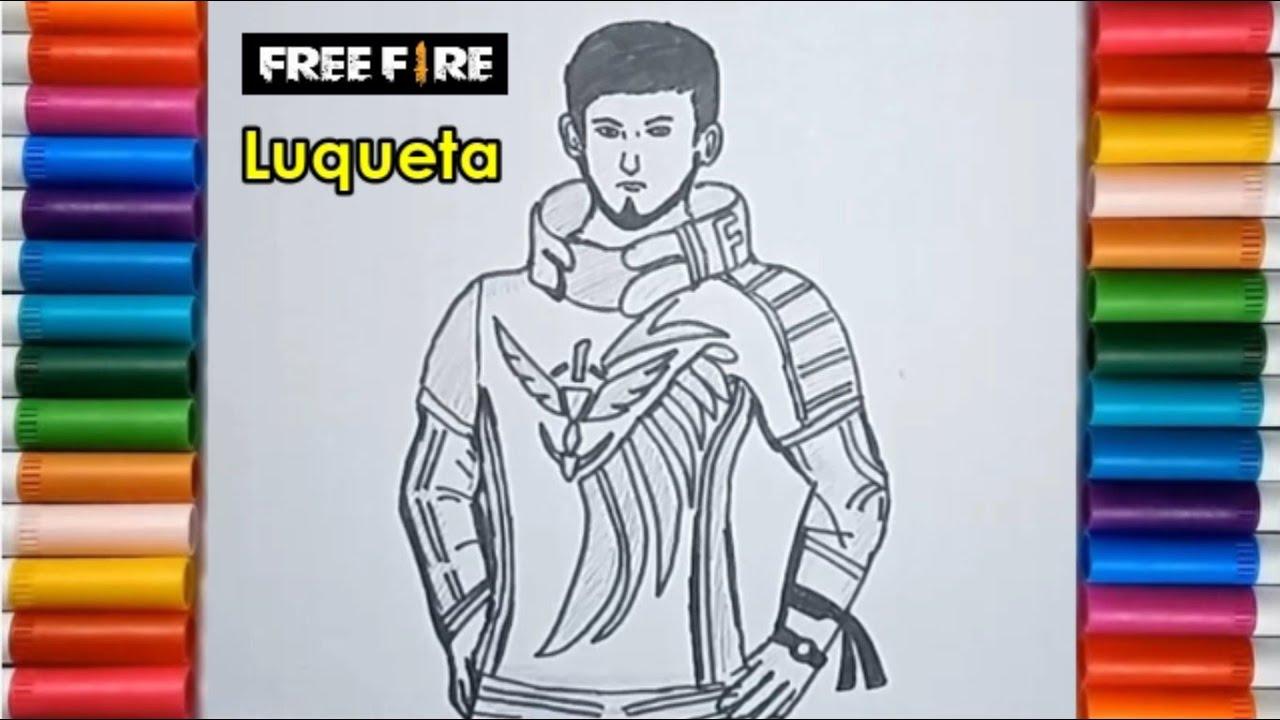 Sketsa Free Fire Sedang