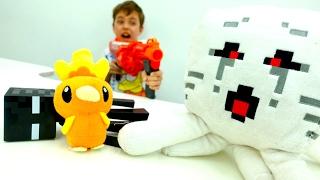 Секреты игры Майнкрафт - Стив и Покемон Торчик  объединились.