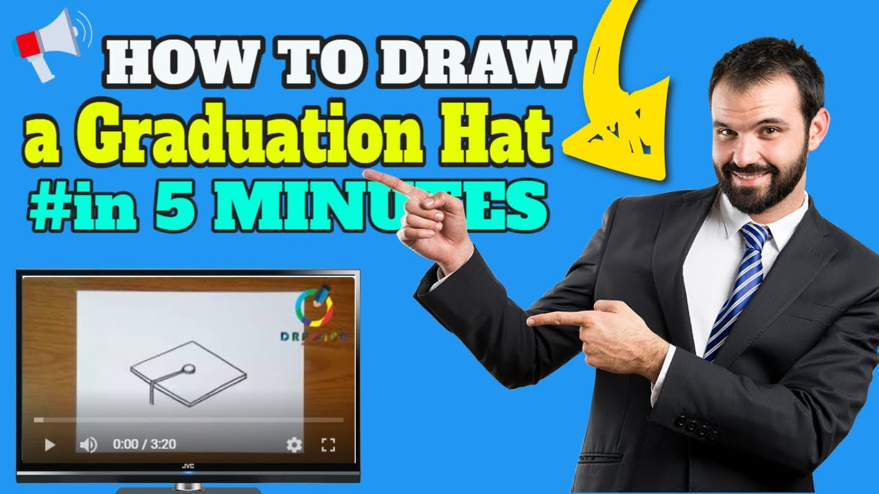 How To Draw A Graduation Hat Step By Step كيفية رسم قبعة التخرج خطوة بخطوة Youtube
