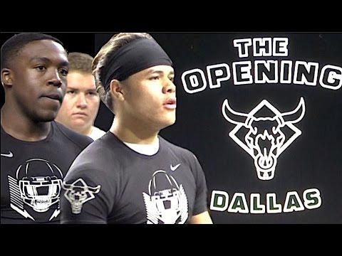 🔥🔥 Dallas TX | OL v DL - 1v1s | The Opening Regionals 2017