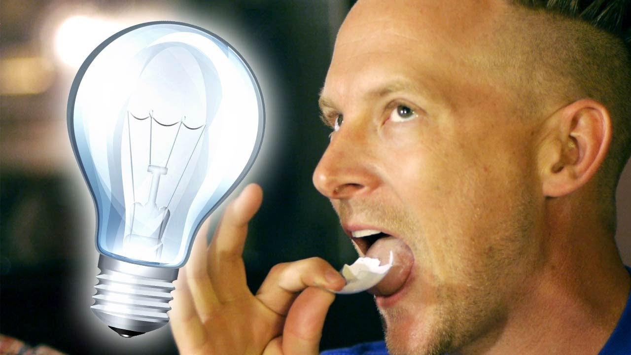 eat lightbulbs without getting hurt youtube