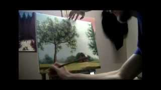 How To Paint A Farm Scene - Acrylic Painting Lessons by Brandon Schaefer