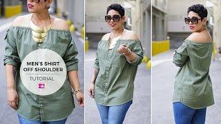 Mens Shirt 2 Womens Top Tutorial