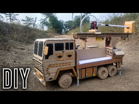 Coolest Hydraulic Bore-well Drilling Truck (Do It Yourself Cardboard Craft)