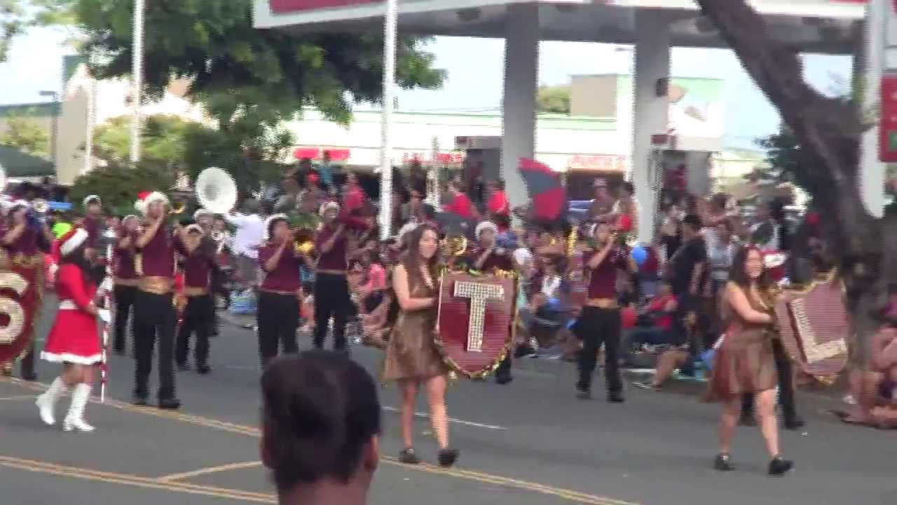 Castle High School Band Kaneohe Christmas Parade 2013 - YouTube