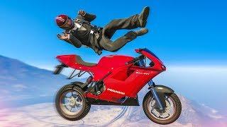 AMAZING PARKOUR BIKE STUNT! - (GTA 5 Stunts & Fails)