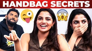 Actress Nikhila Vimal Handbag Secrets Revealed by Vj Ashiq | What's Inside the Handbag?