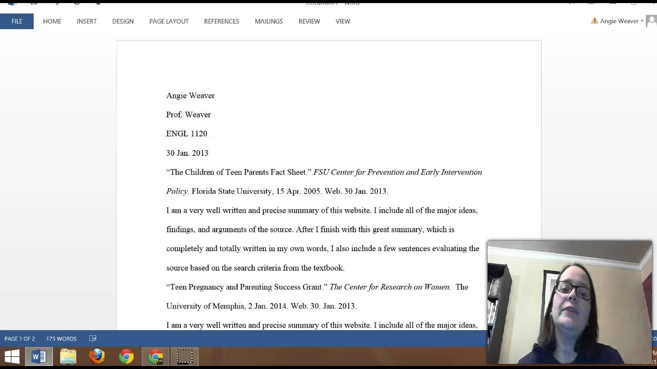 annotated bibliography template   sop examples