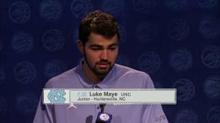 UNC Men's Basketball: Maye & Pinson at ACC Media Day - 2017