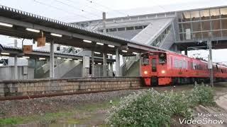 リニューアル後初運用 783系CM23編成特急かもめ104号長崎本線神埼駅通過
