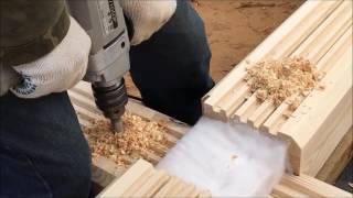 Сухой брус массив - материал, этапы строительства, детали.