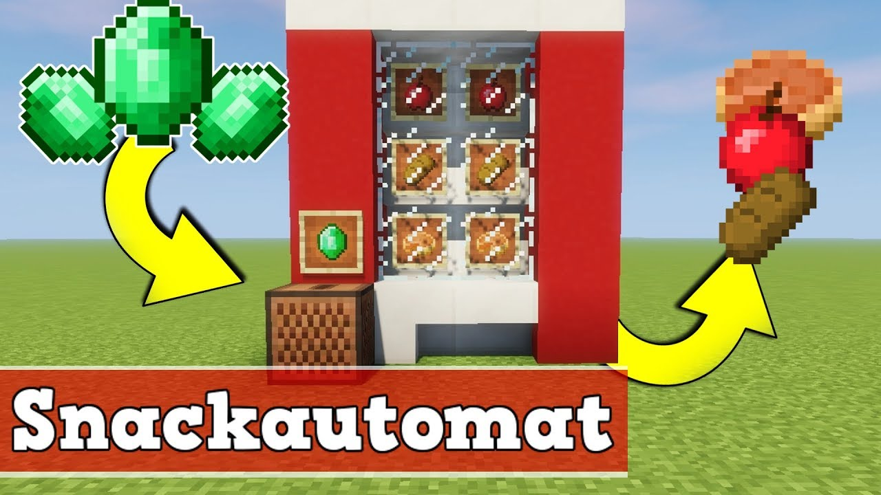 minecraft wie baut man einen funktionierenden snackautomat. Black Bedroom Furniture Sets. Home Design Ideas