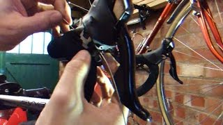 Replacing the gear cable on a Shimano 105 shifter.