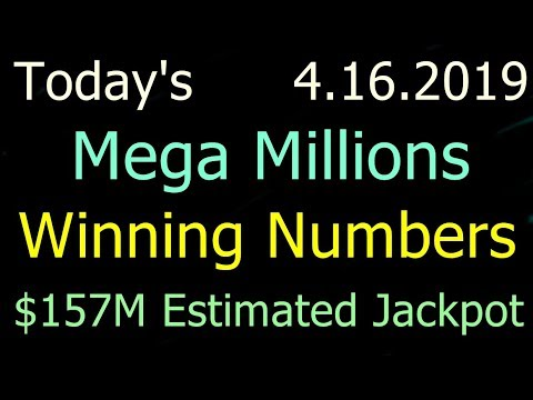 Today Mega Millions Winning Numbers 16 April 2019 Tuesday. Tonight Mega Millions Drawing 4/16/2019