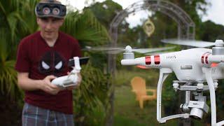 Using GEAR VR to pilot a PHANTOM 3 Drone
