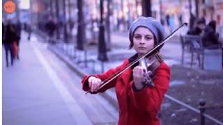 Menakjubkan memainkan musik biola yang indah