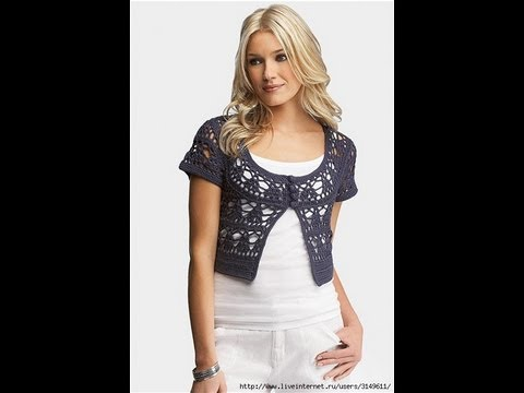 How To Crochet Shrug Bolero Free Pattern For Beginners Youtube