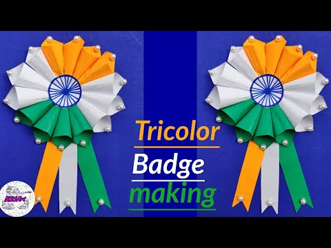 Repeat DIY Independence Day Badge | Indian Tricolor Badge
