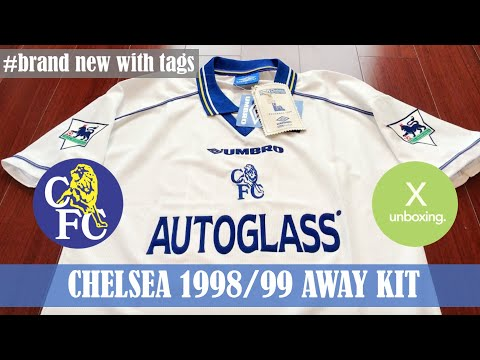 [X UNBOXING] Chelsea FC 1998/99 Umbro Away Kit / Dennis Wise Printing & Badges / Brand New With Tags