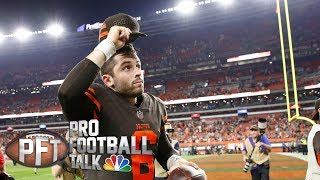 Expectations for Baker Mayfield as he preps for first start I Pro Football Talk I NBC Sports