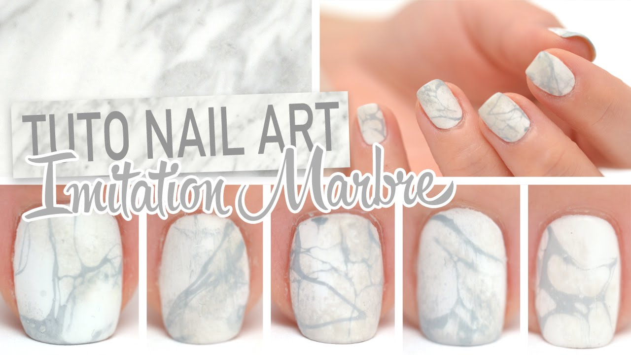 nail art imitation marbre youtube. Black Bedroom Furniture Sets. Home Design Ideas