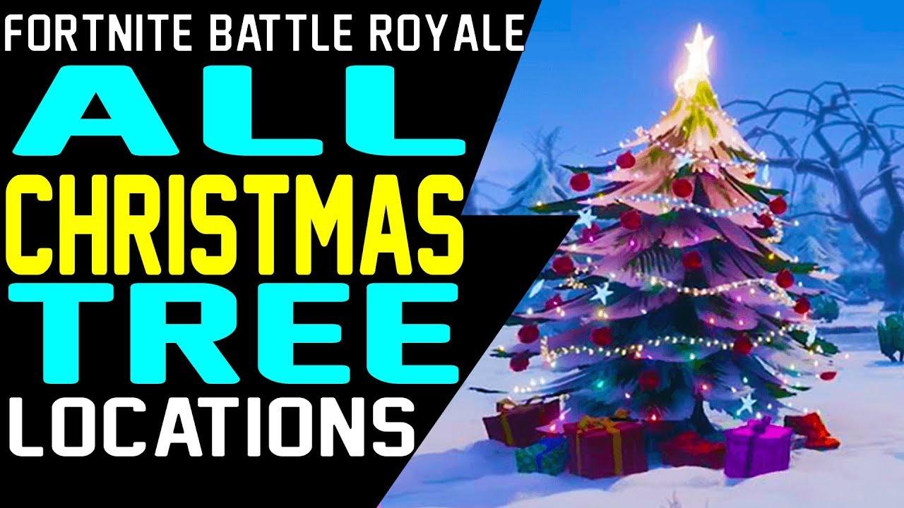 All Christmas Tree Locations Fortnite.Fortnite All Christmas Tree Locations Guide 14 Days Of Fortnite Challenge