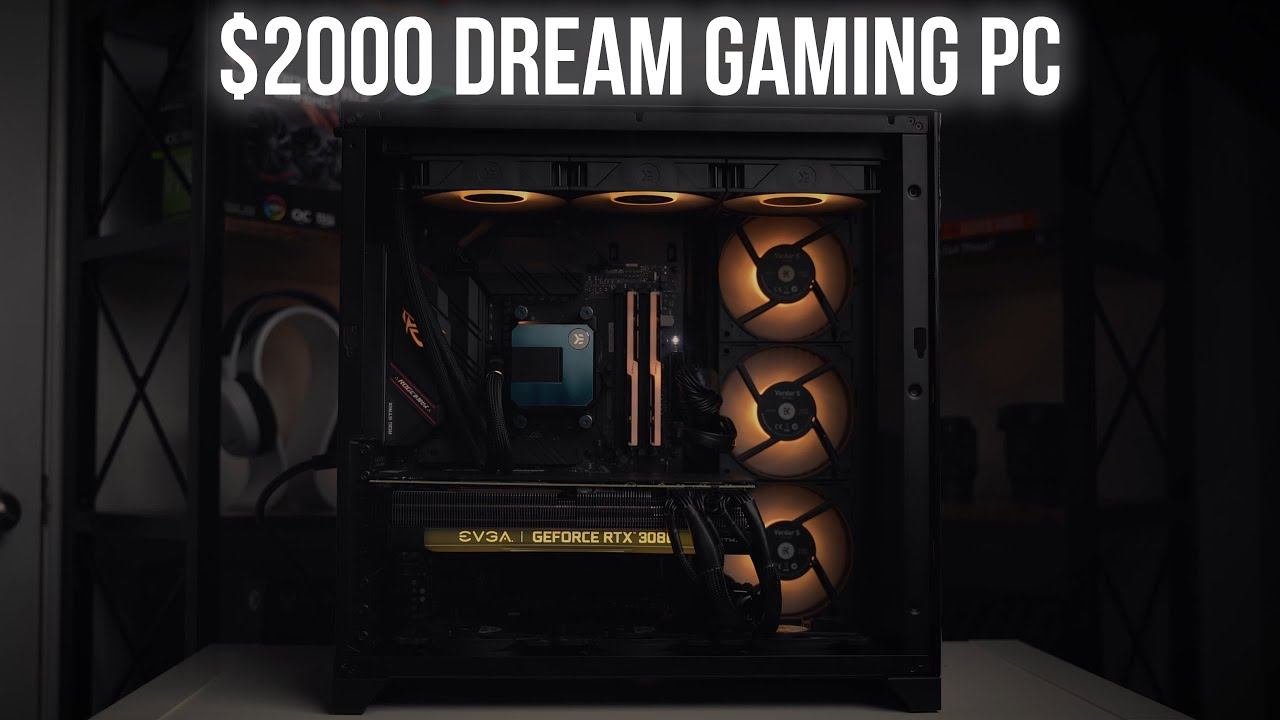 Built a $2000 Gaming PC For My Brother (RTX 3080 + AMD 5600X + Lian Li O11D)