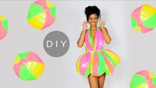 Making a DIY Mini Dress Out of Beach Balls!