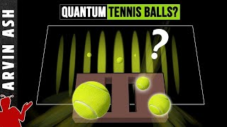 Why don't quantum effects occur in large objects? double slit experiment with tennis balls