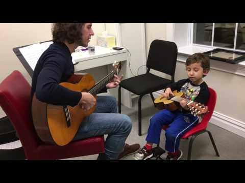 Dylan, guitar, 4 years old, NJAOM