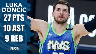 Luka Doncic flirts with triple-double in Nuggets vs. Mavericks thriller | 2019-20 NBA Highlights