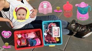 24 horas embarazada con 100 accesorios para bebé Nenuco Lola y muñecas bebés llorones de juguete thumbnail