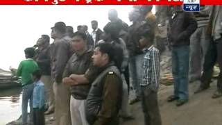 Over speed truck falls into Ganga river in Kanpur