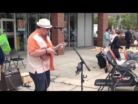 Kentucky Jim plays Baby Talk at the Adams Morgan 40th anniversary farmers market.