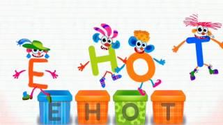 Учим буквы, самая веселая азбука, русский алфавит для малышей