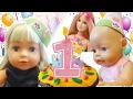 День Рождения Куклы Беби Бон Подарки и Торт Видео для Детей Кукла Baby Born Игры для Девочек mp3