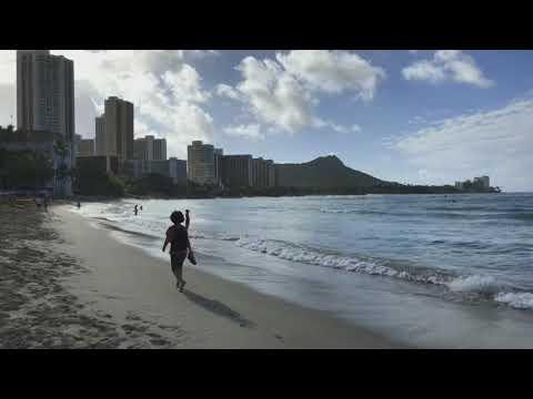 Hawaii Honolulu - Waikiki Beach walk - Pi'i Mai Ka Nalu