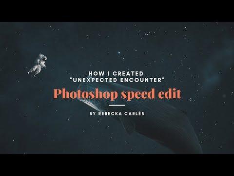 "Surreal Photoshop Tutorial Astronaut Whale | ""Unexpected encounter"" thumbnail"