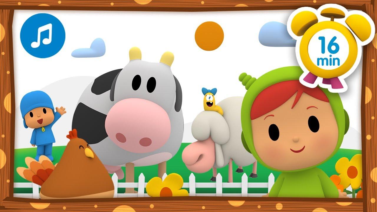 🐷En la granja de Nina + Otras Canciones Infantiles [ 16 minutos ] | Música para Niños | Pocoyó